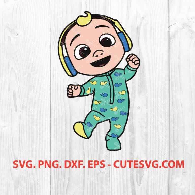 Baby JJ wearing Headphones Cocomelon SVG