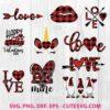 Buffalo Plaid Valentine SVG