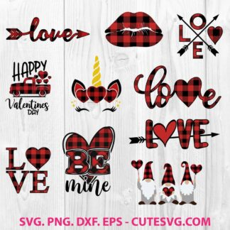 Buffalo Plaid Valentine SVG