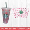 Hearts Wrap SVG for Starbucks Cup 1