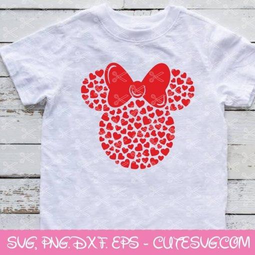 Minnie Hearts SVG