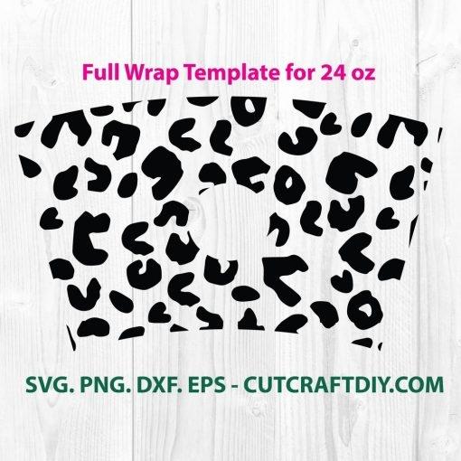 Seamless Full Wrap Leopard Print For Starbucks SVG File