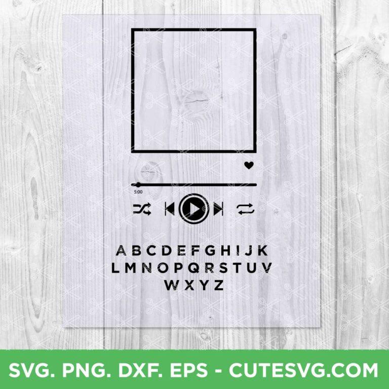 Spotify glass art SVG