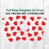 Valentine Heart Starbucks Cup SVG File