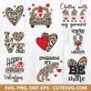 Valentine Leopard Heart SVG File