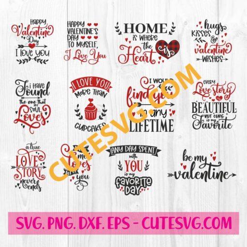 Valentines Quotes SVG Bundle