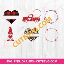 Valentines Monogram SVG Bundle