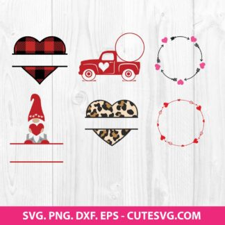 Valentines Monogram SVG Bundle
