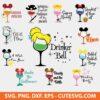 Disney Wine Glass Svg Bundle