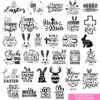 The Huge Easter SVG Bundle, Easter Bundle SVG, Easter Craft Bundle SVG, Easter SVG, DXF Cutting