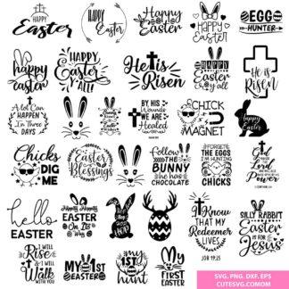 The Huge Easter SVG Bundle