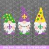 Mardi Gras Gnomes SVG File
