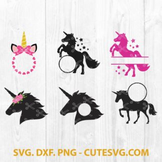 Unicorn Monogram SVG