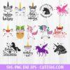 Designs Unicorn Bundle SVG