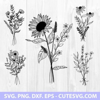 Wildflowers SVG