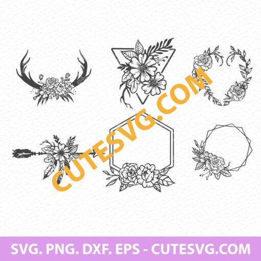 Floral Wreath SVG Cut File