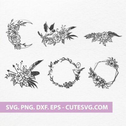 Floral Wreath SVG