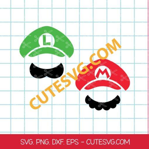 Luigi head SVG cut files