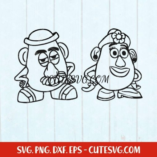 Toy Story Mr and Mrs SVG