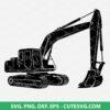 Excavator SVG Cut File