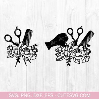 Floral Hairdresser SVG Bundle
