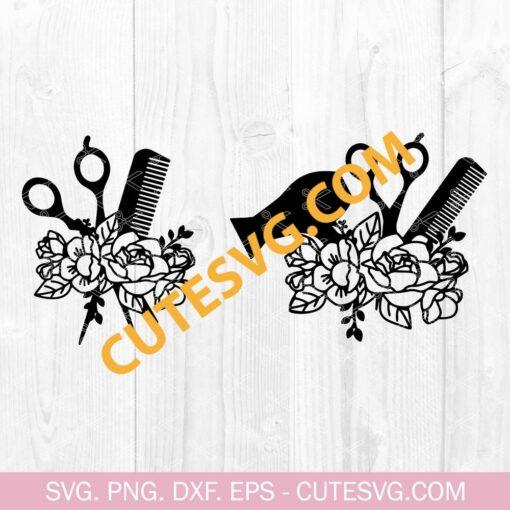 Floral Hairdresser SVG Bundle