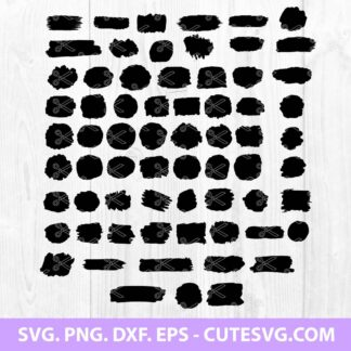 Paint Brush Stroke SVG Bundle