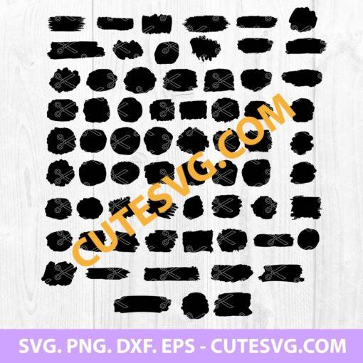 Paint Brush Stroke SVG Bundle