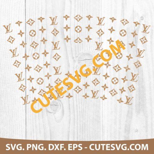 Louis Vuitton Starbucks Tumbler Full Wrap LV Pattern Cup SVG