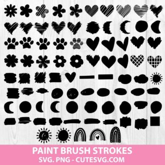 Brush Stroke Svg Bundle