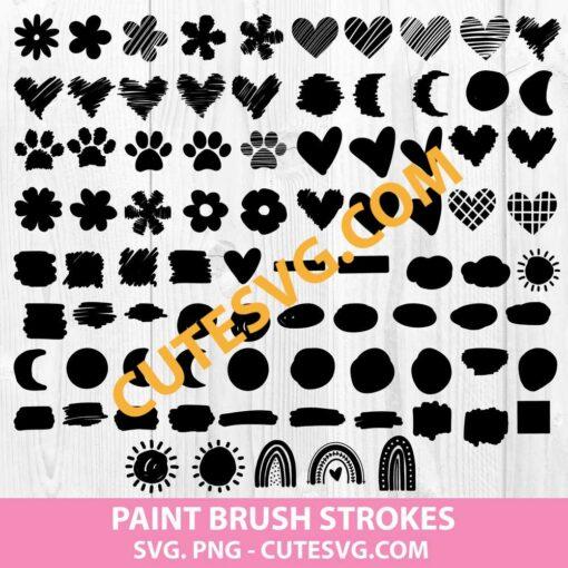 Brush Stroke Svg Bundle
