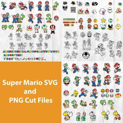 Super Mario SVG Bundle