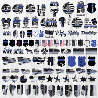 Thin blue line bundle svg