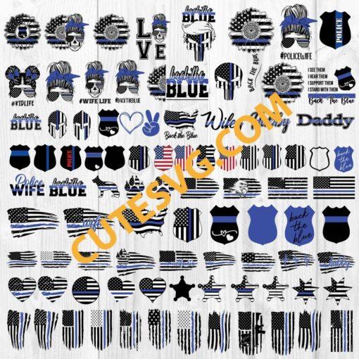 Thin blue line bundle svg