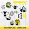 Bee SVG Cut File 1