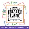 Black Flame Candle SVG