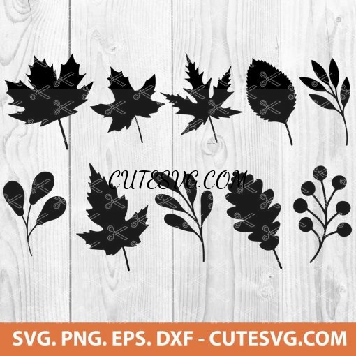 Fall Leaves SVG File