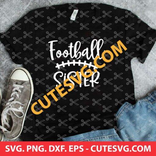 Football sister svg