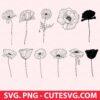 Poppy Flowers SVG