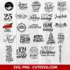 Christmas svg bundle for cricut