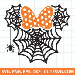 Minnie mouse spider web svg