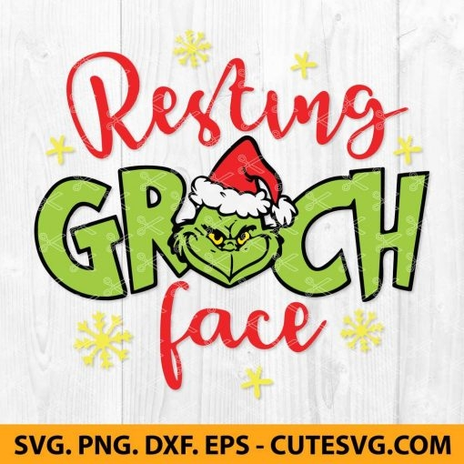 Resting Grinch Face SVG