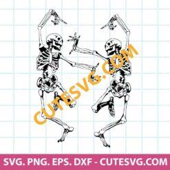 Dancing skeleton SVG